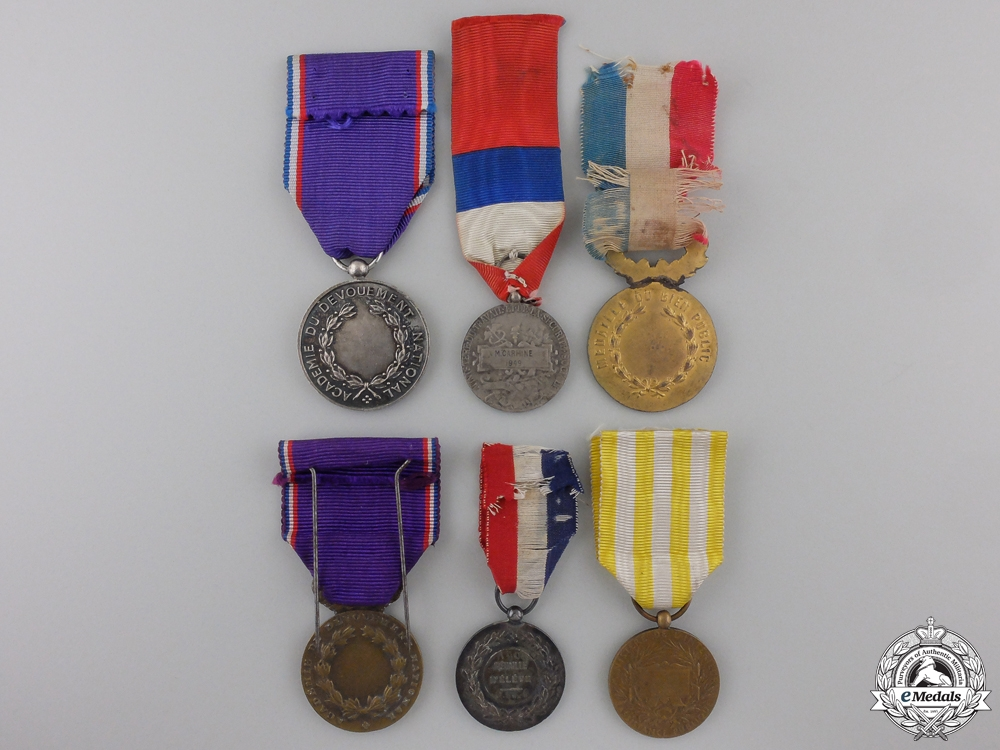 France, III Republic. A Lot of Six Medals, Decorations, and Awards