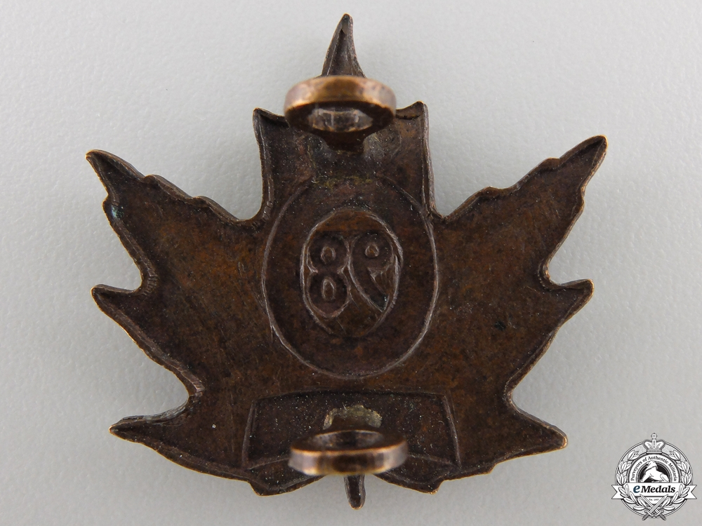 A 98th Canadian Infantry Battalion Officer's Collar Badge