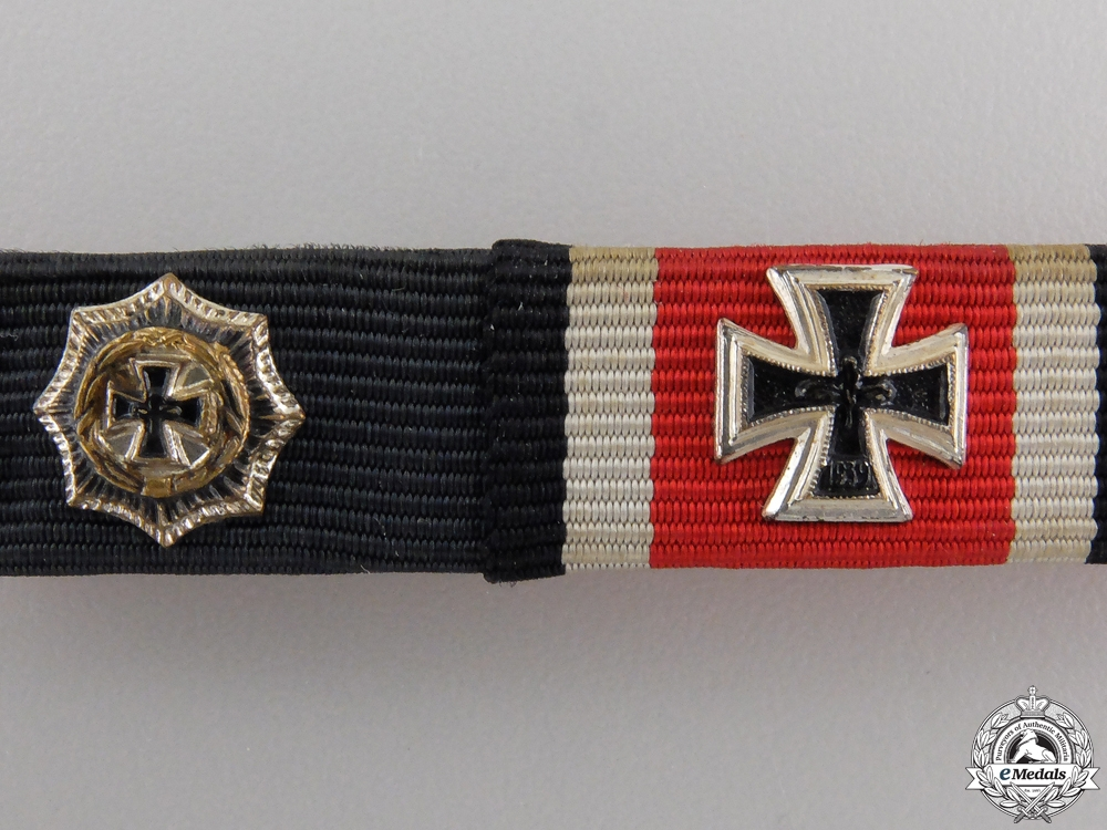 A German Submariner's Four Piece Ribbon Bar