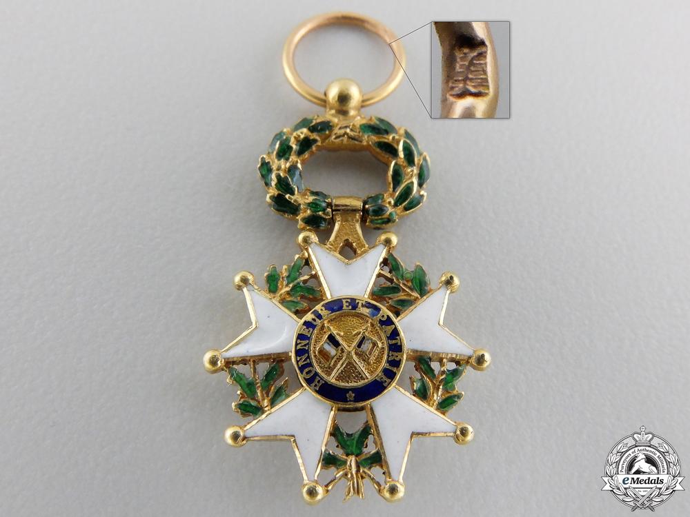 A Miniature French Legion D'Honneur; 3rd Republic