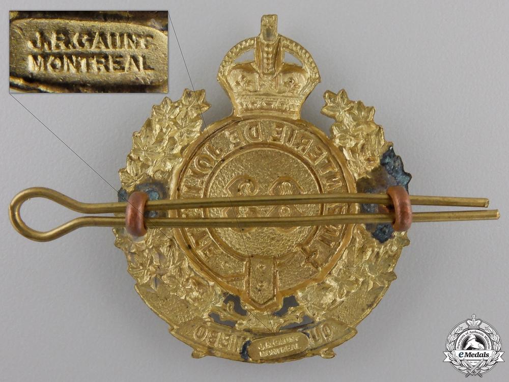 A Second War Le Régiment de Joliette Cap Badge