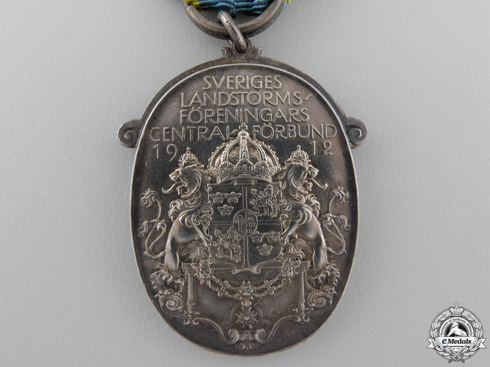 A 1929 Silver Swedish Militia Association Medal