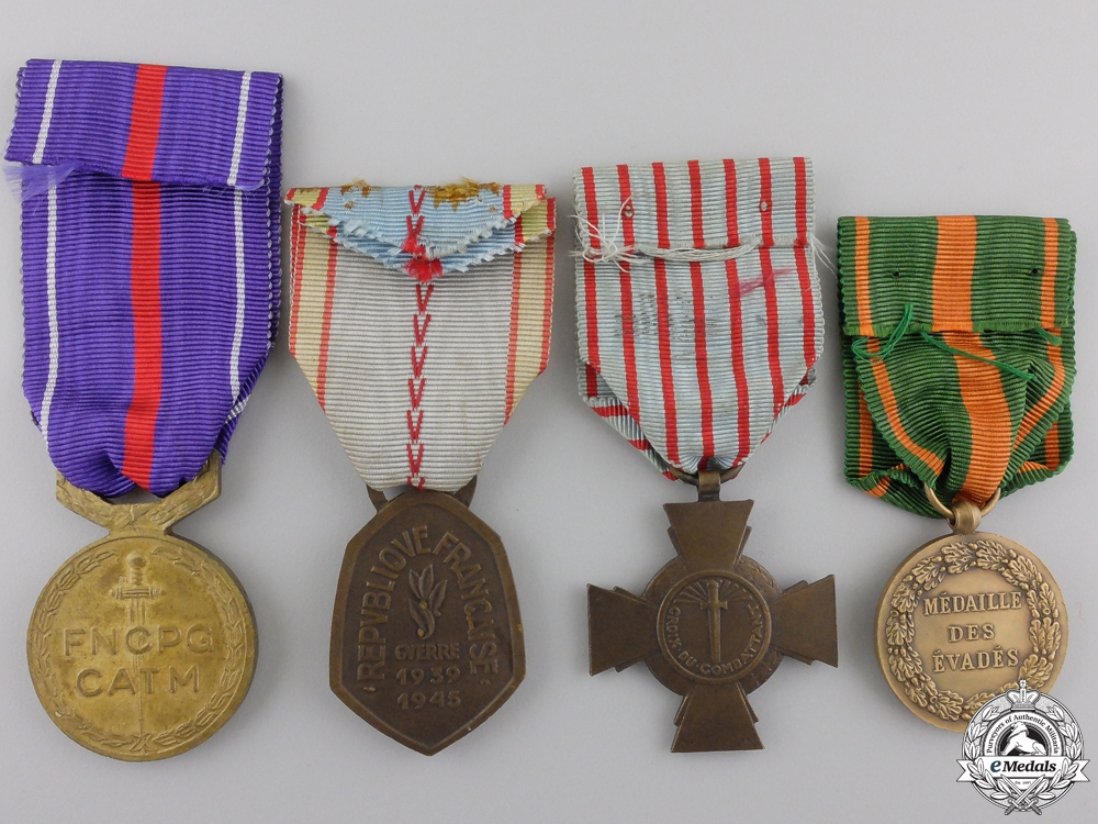 Four Second War French Medals and Awards