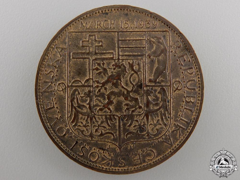 A 1939 Czechoslovakia Shall Be Free Again Medal by Medallic Art Co. NY.