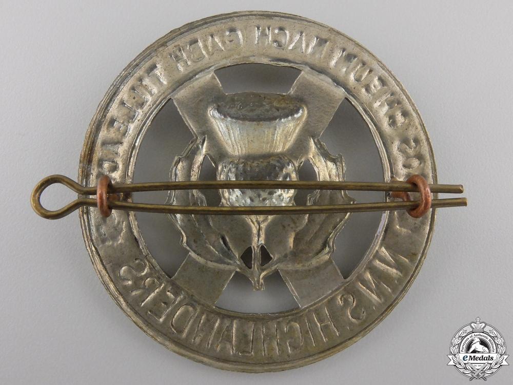 A Second War North Nova Scotia Highlanders Glengarry Badge