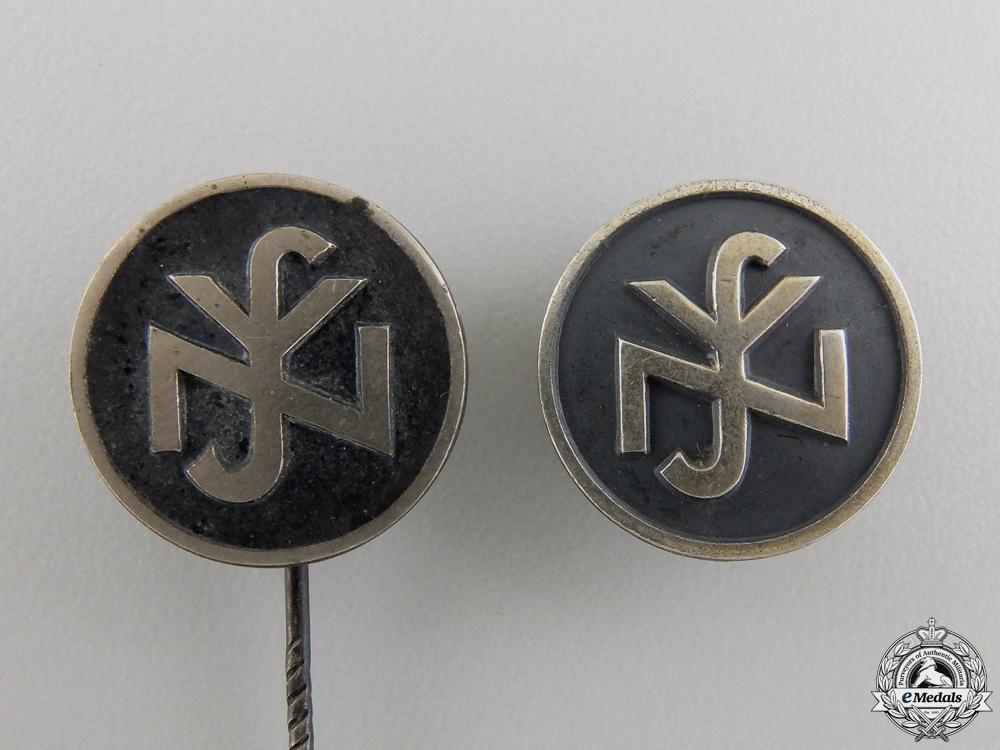 Two RZM Silver German Social Welfare Pins