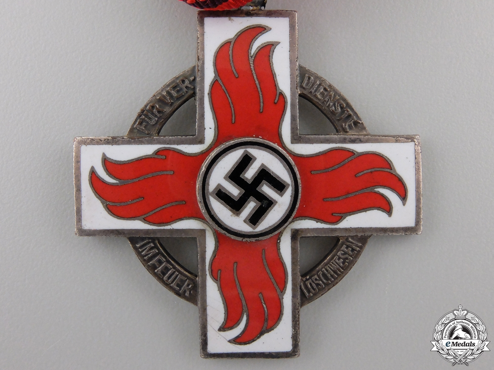 A German Firebrigade Honour Badge; 2nd Class CrossA German Firebrigade Honour Badge; 2nd Class Cross