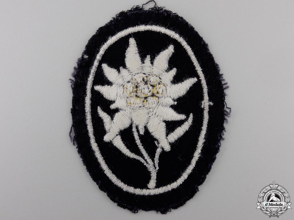 A Uniform Removed SS Gebirgstruppen Badge