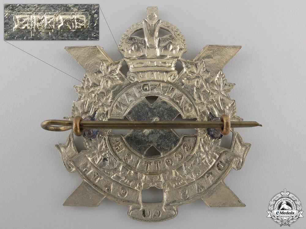 A Second War Canadian Scottish Regiment Glengarry Badge