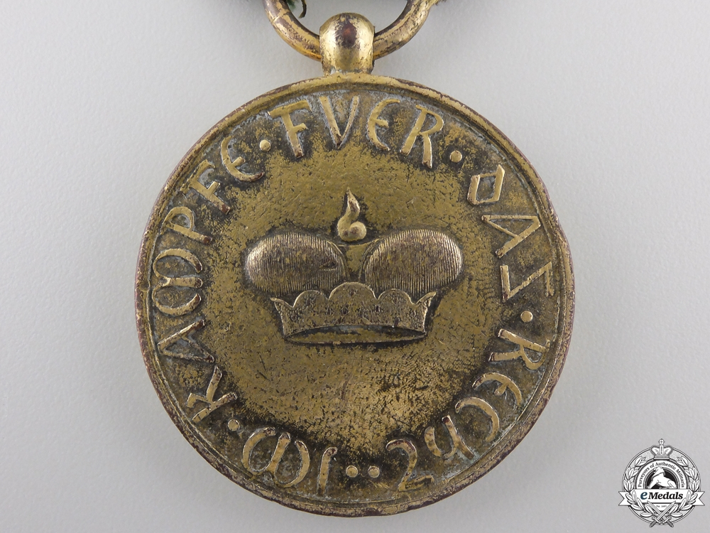 An 1814-15 Saxe-Gotha-Altenburg 1814 Waterloo Medal