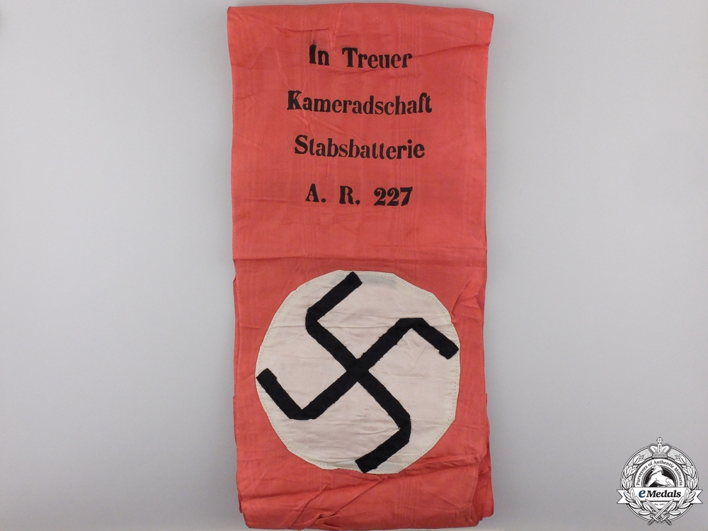 A Dutch Made German Army Funeral Sash & Liberation Flag