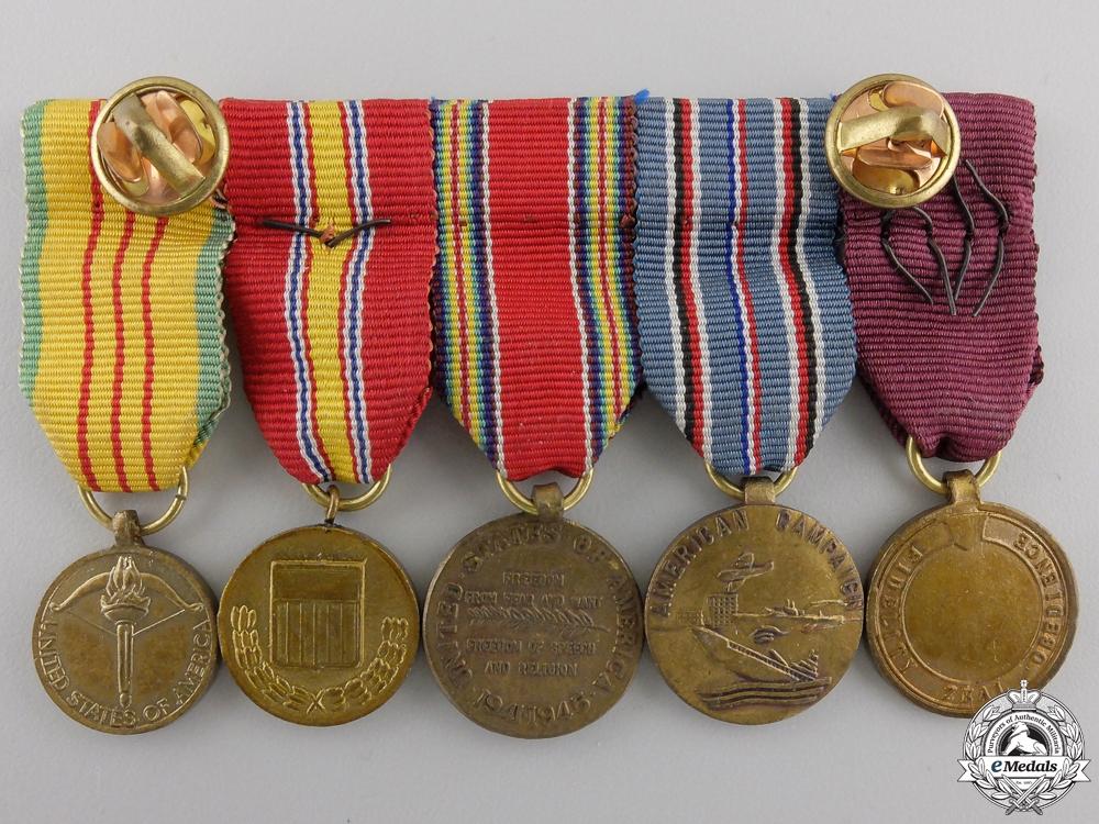 An American Second War & Vietnam War Miniature Group