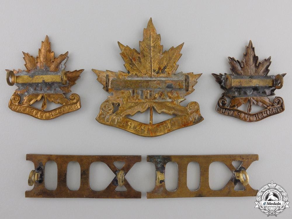 """A Canadian 13th """"Royal Regiment"""" Militia Insignia Set"""
