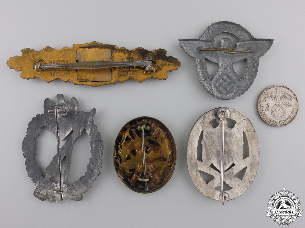 Five Second War Period German Badges