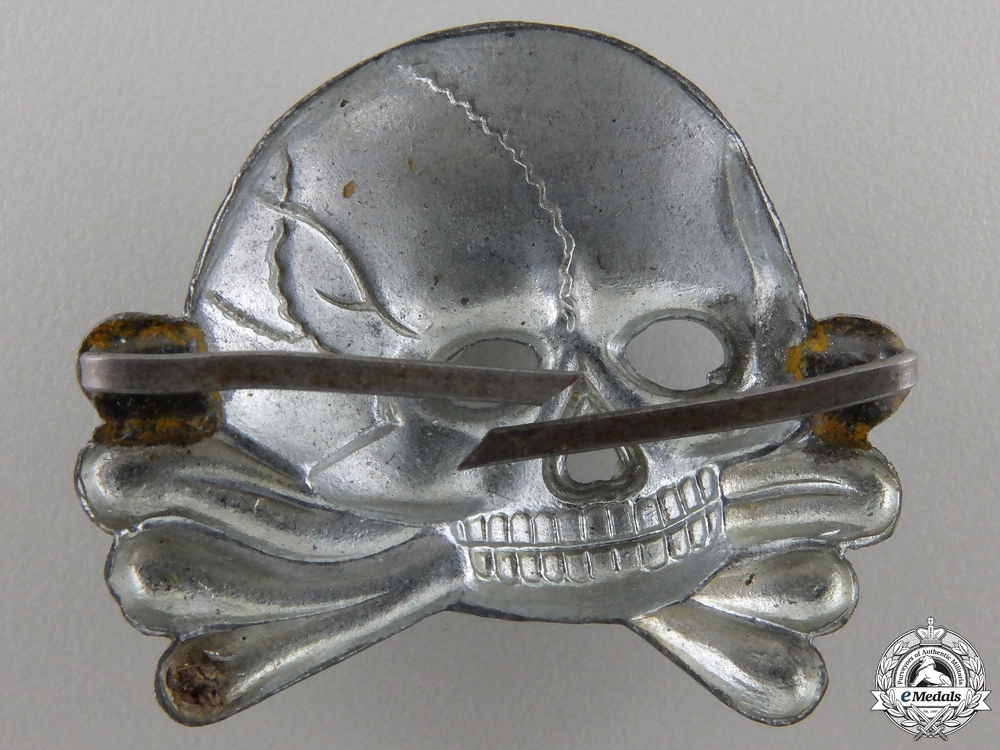 An SS Skull; First Model for Visor Cap