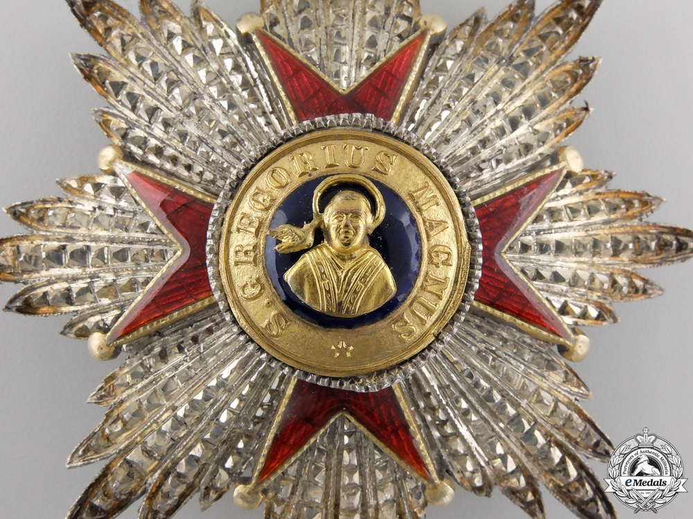 Vatican, City State. An Order of St. Gregory the Great, I Class Star, c.1930