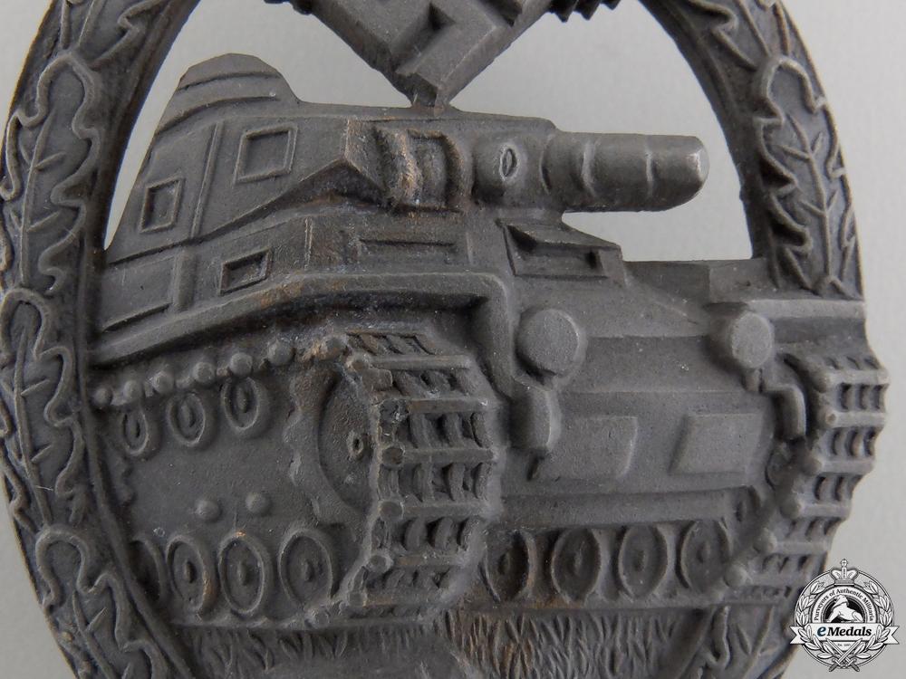 A Bronze Grade Tank Assault Badge by Karl Wurster