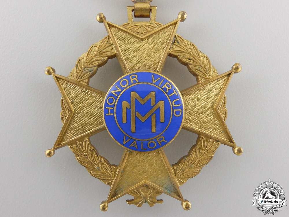A Cuban Order of Military Merit; Fourth Class Knight Cross
