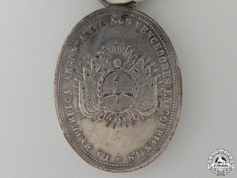 A 1865 Argentinean Corrientes Medal; Silver Grade