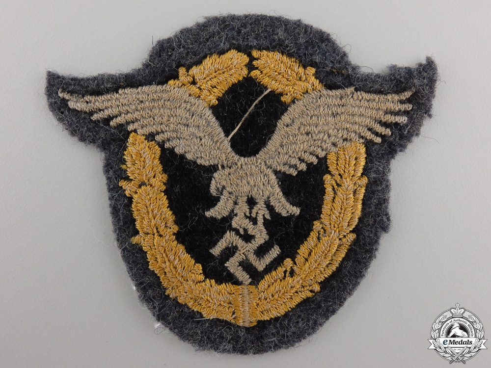 A Luftwaffe Combined Pilot-Observer Badge; Cloth Version
