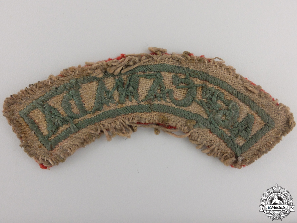 A Tunic Removed WWI 46th Canadian Infantry Shoulder Flash