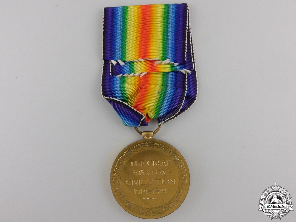 A First War Victory Medal to the 58th Battalion; Wounded