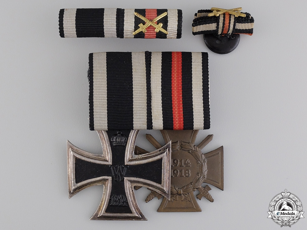 A First War Medal Pair & Documents to Hans Martens