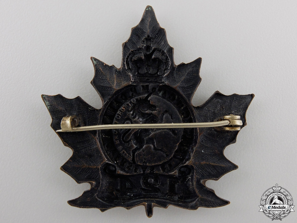 A First War 124th Battalion Cap Badge (Governor General's Bodyguard)