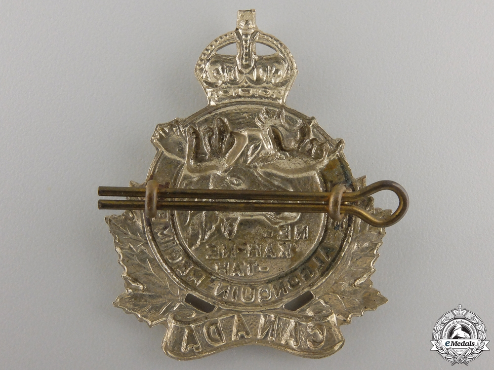A Second War Algonquin Regiment Cap Badge