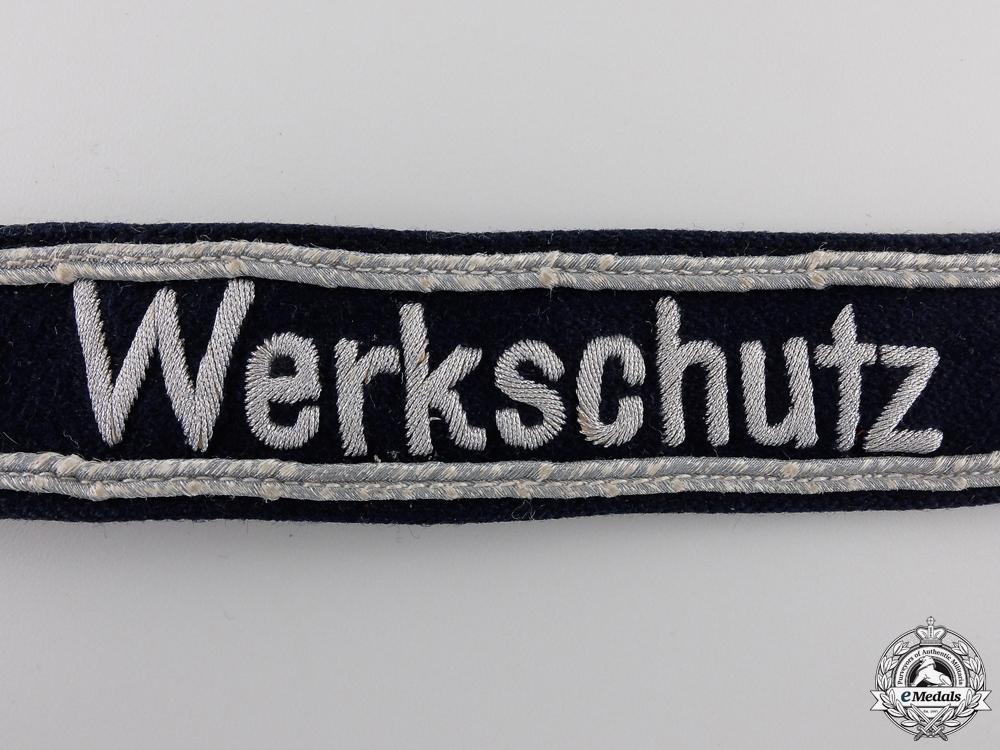 A Rare Luftwaffe Werkschutz Cufftitle; Officer's Version
