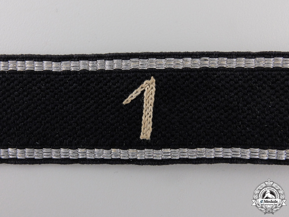 An Allgemeine-SS 1st Standarte Officer's Cufftitle