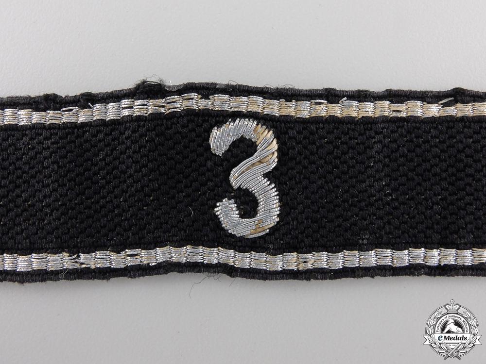 An Allgemeine-SS 3rd Standarte Officer's Cufftitle