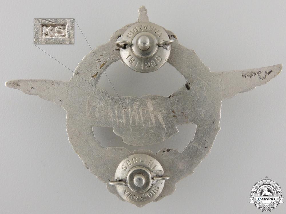 A Second War Yugoslavian Pilot's Badge