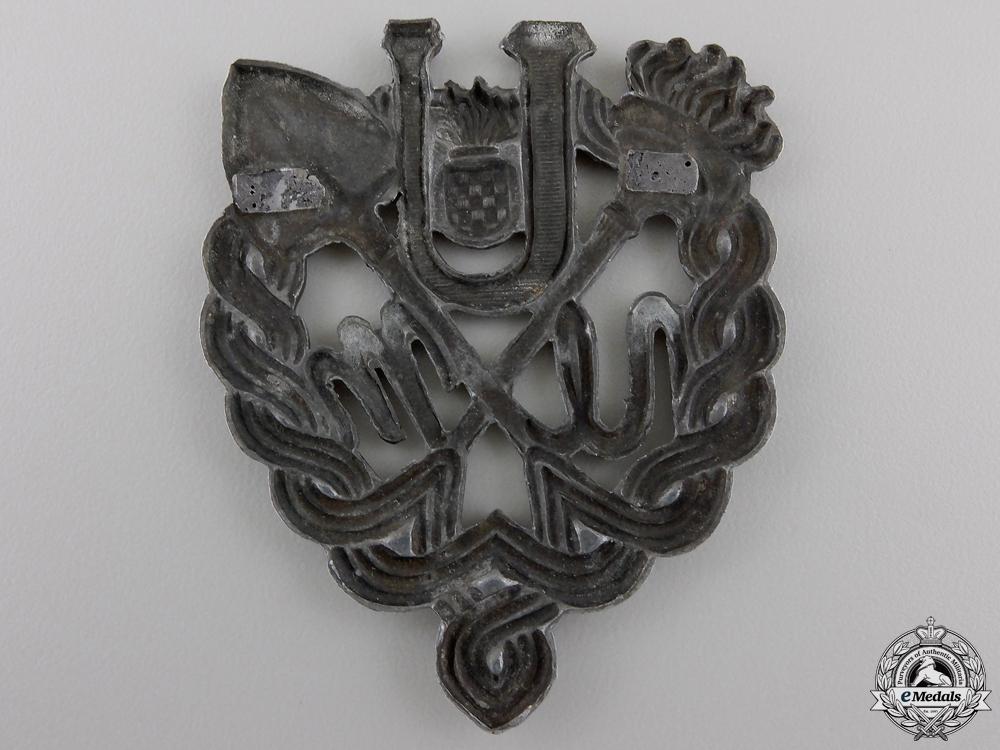 A Rare Ustasha Youth Breast Badge