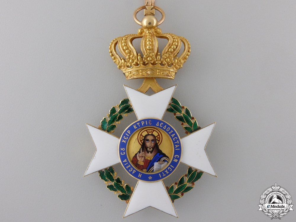 A Greek Order of the Redeemer in Gold; Commander's