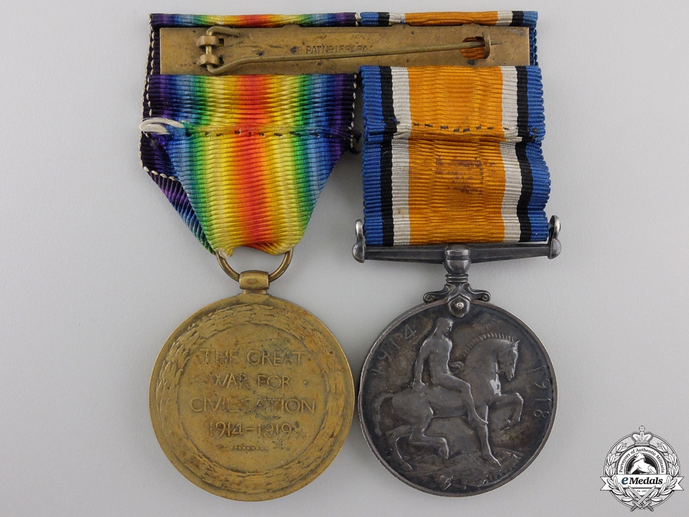A First War Pair to the King's Own Yorkshire Light Infantry