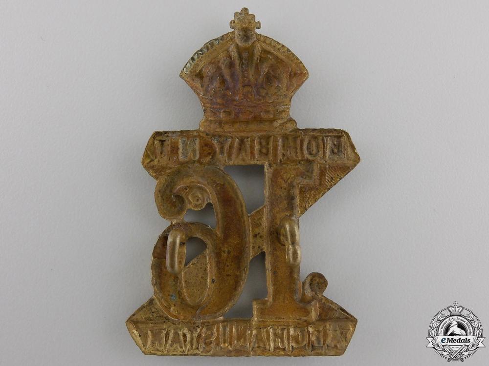 A 16th Indian Regiment Cap Badge