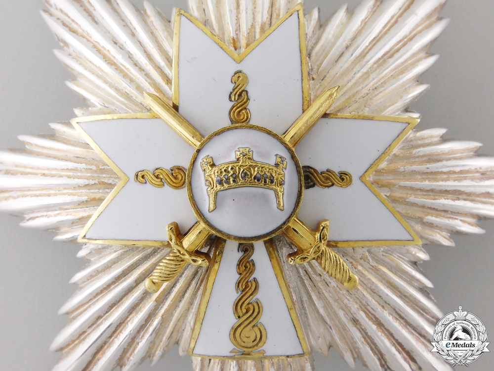 A Croatian Order of King Zvonimir; Grand Cross Star with Swords