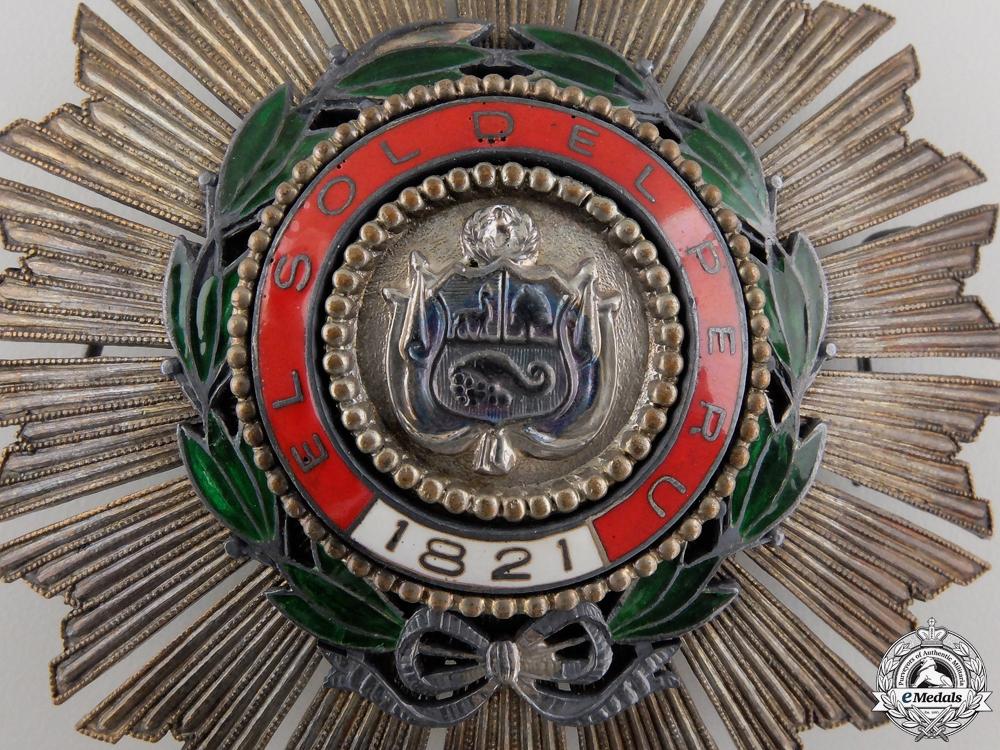 A Peruvian Order of the Sun; Breast Star