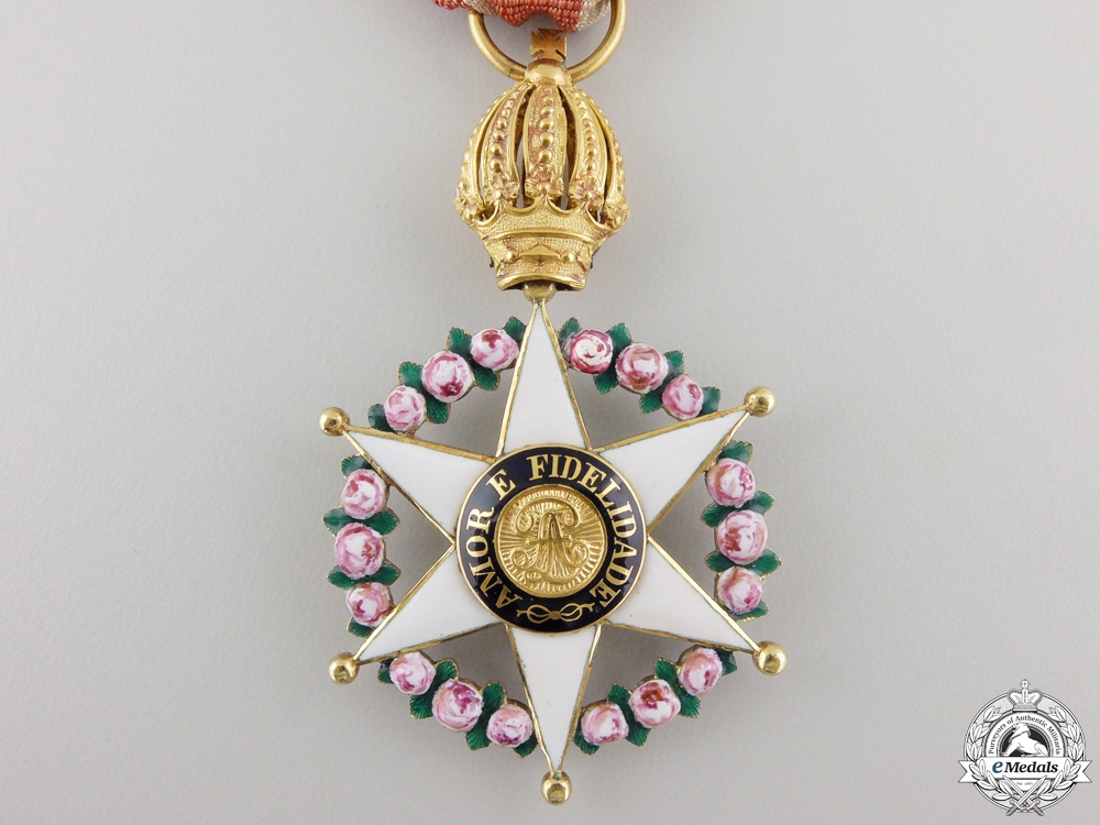 An Early Brazilian Order of the Rose; Knight's Badge