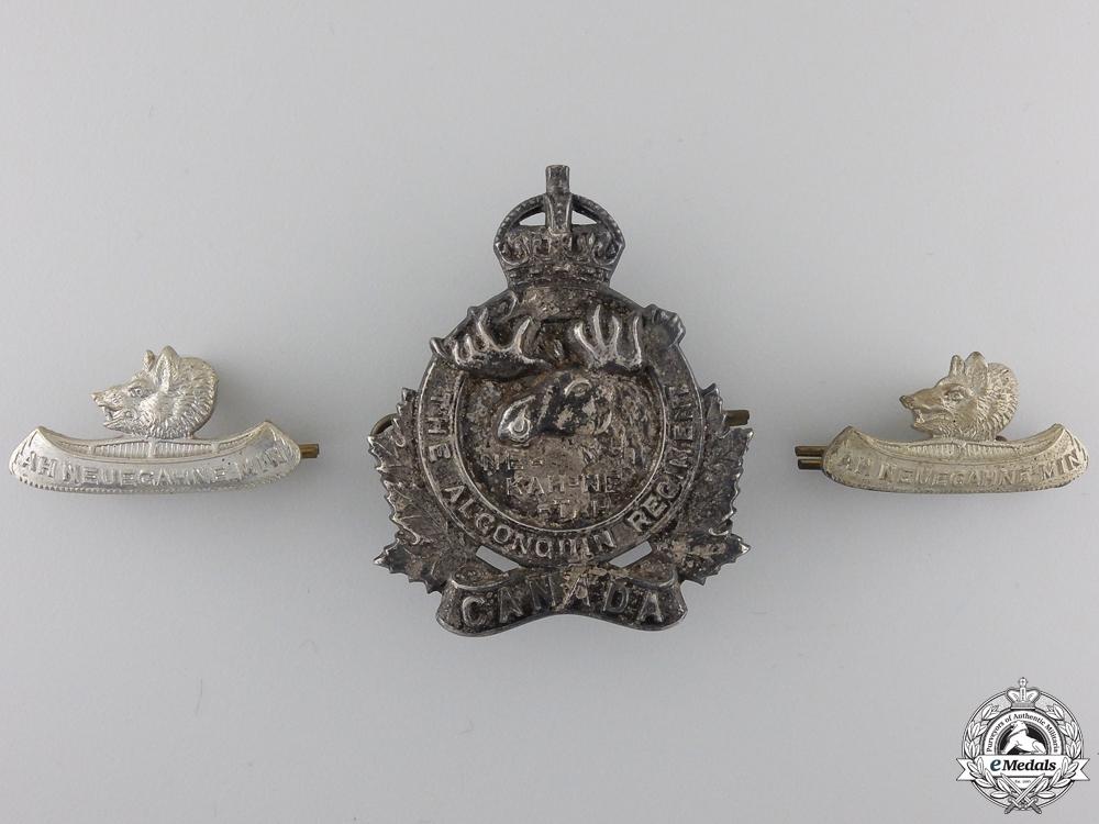 A Second War Algonquin Regiment Officer's Insignia Set
