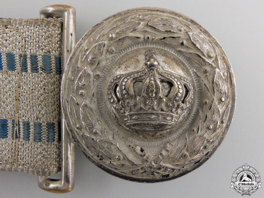 A Bavarian Officer's Brocade Belt & Buckle