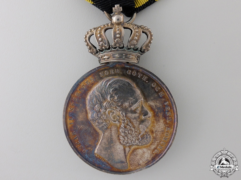 A 1874 Swedish Royal Pro Patria Medal