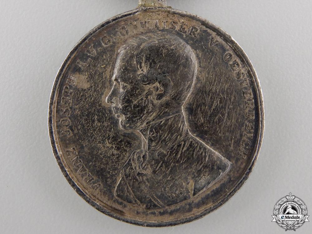 A Austrian Silver Bravery Medal; Second Class