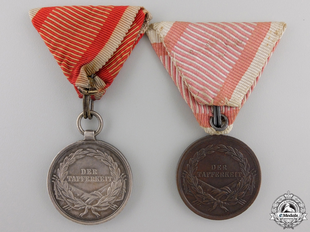 Two Austrian Bravery Medals