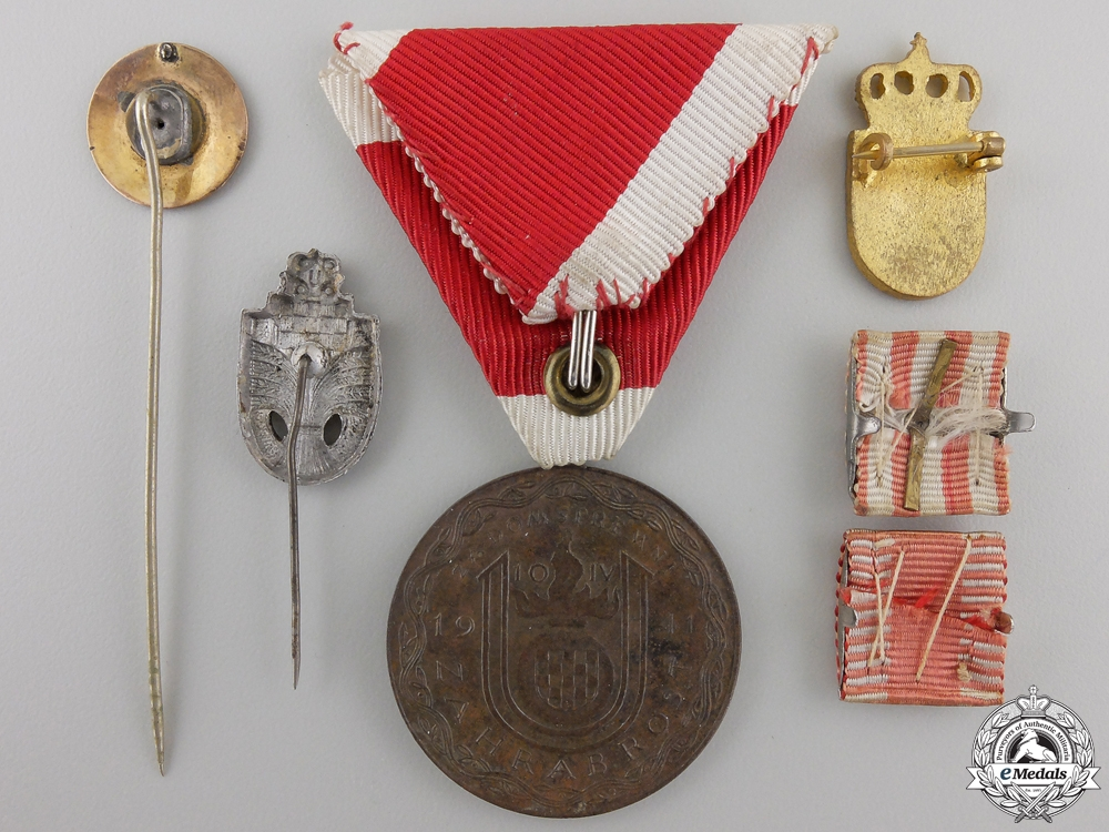 A Croatian Ante Pavelic Bravery Medal & Insignia