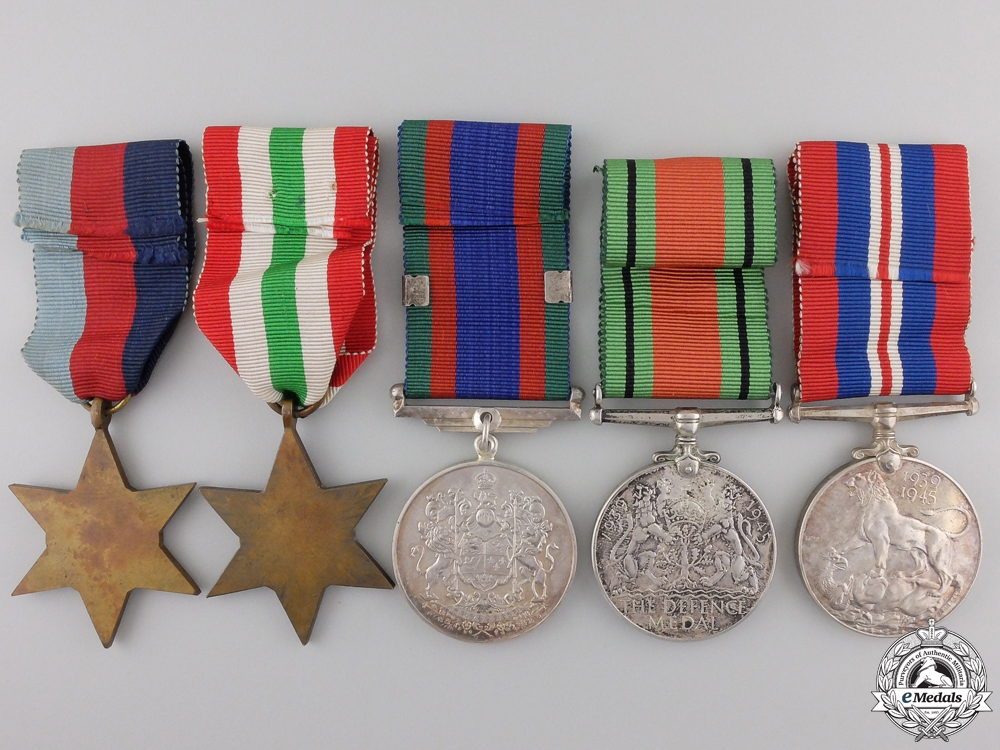 A Second War Canadian Group of Five Awards