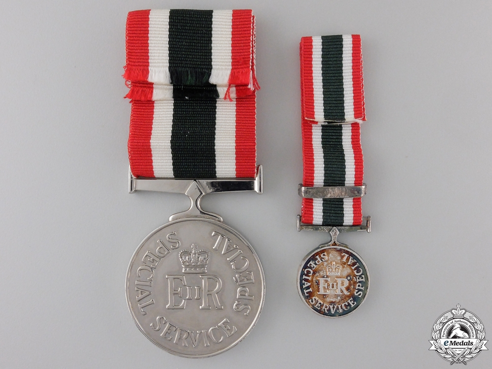 A Canadian Special Service Medal with Miniature