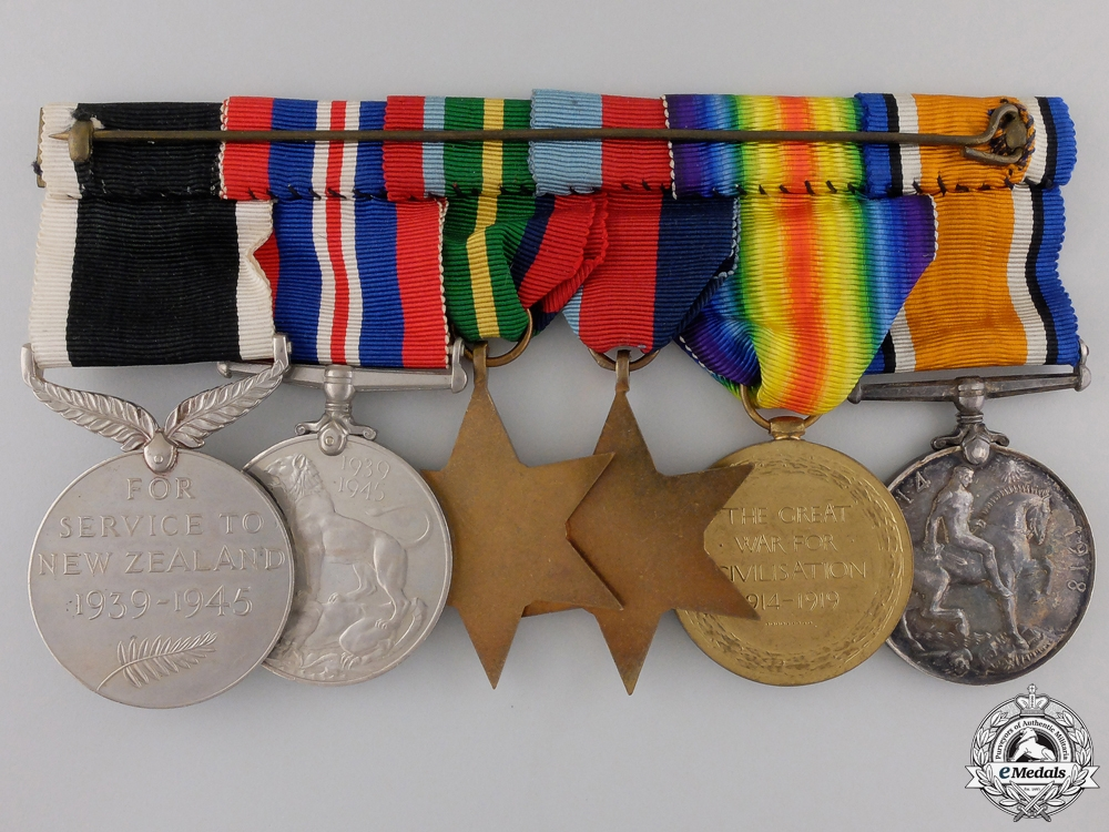 A First & Second War Medal Bar to the Australian 1st Regiment