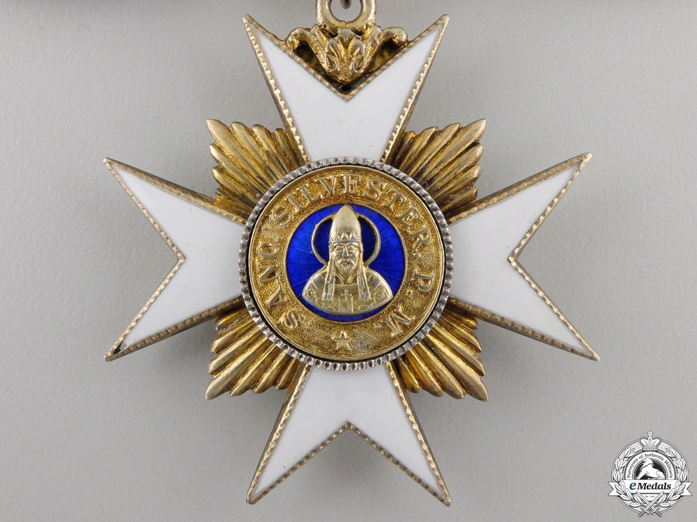Vatican. An Order of Saint Sylvester, Dame, by Tanfani Bertarello